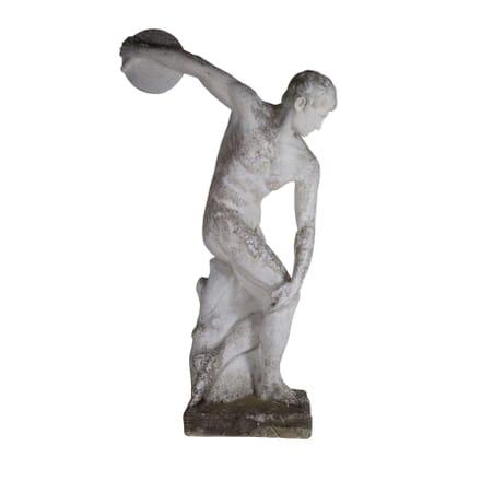 Large Statue of a Greek Discus ThrowerAthlete GA4360544