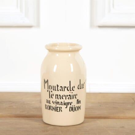 Cream Tall Dijon Mustard Jar with Writing DA4461554
