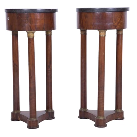 Pair of 19th Century French Mahogany Side Tables CC7359948