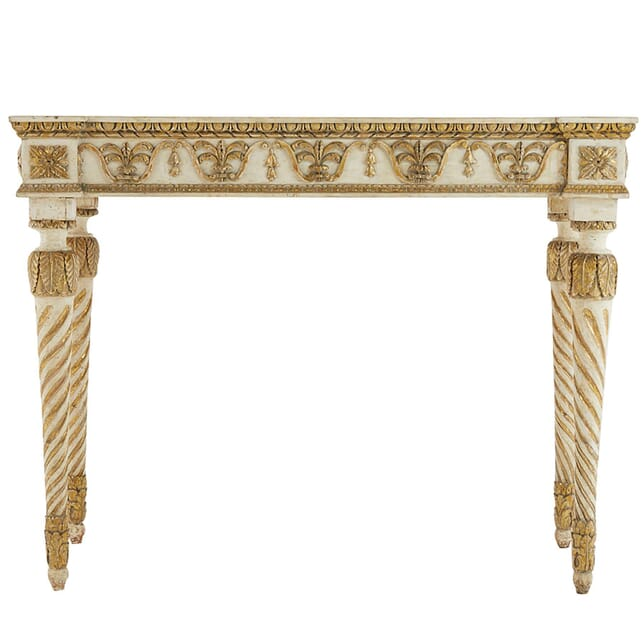 Late 18th Century Italian Carved Giltwood and Painted Console Table CO0661403