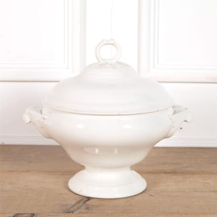 19th Century Creamware Soupier with Ladel WD6062360