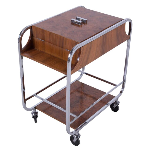 Art Deco Rolling Cocktail Bar Trolley TS5859851