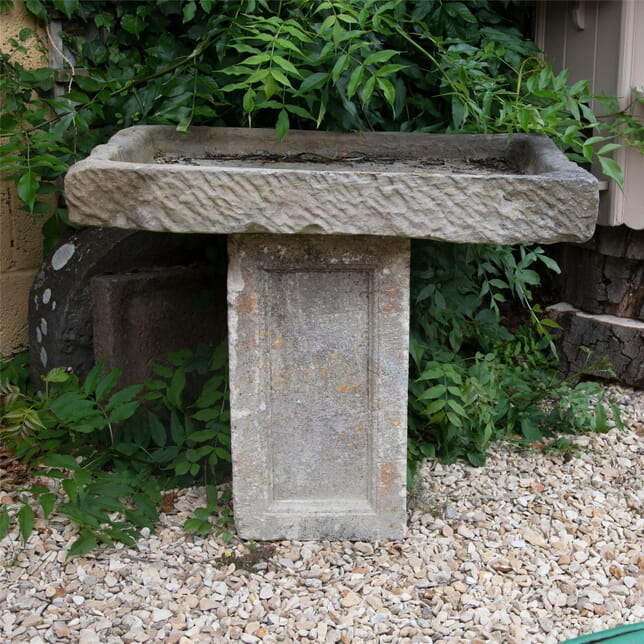 Carved Stone Alpine Garden Trough GA4256322