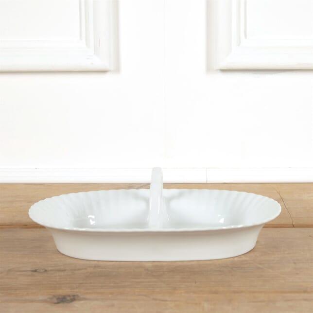 White French Porcelain Divided Servery Plate DA4461550