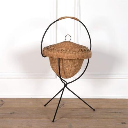 Small Rattan Sewing Basket on Legs DA2962130