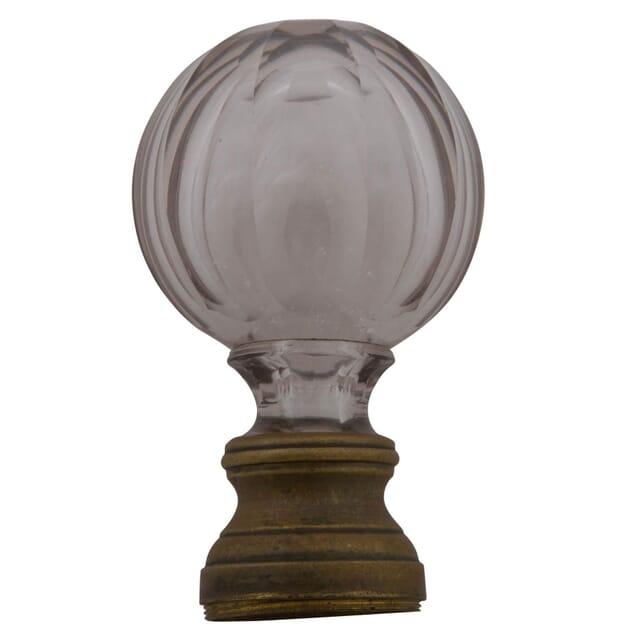 Rib Facet Cut Glass Boule d'Escalier DA176005