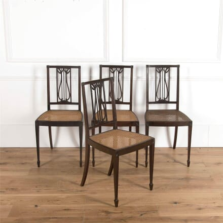 Pair of Early 20th Century Carved Mahogany Side Chairs CH2361734