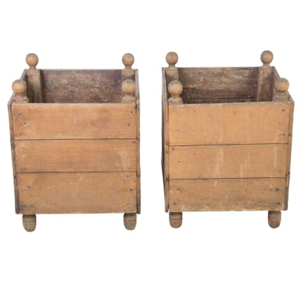 Pair of Wooden Planters GA1111481