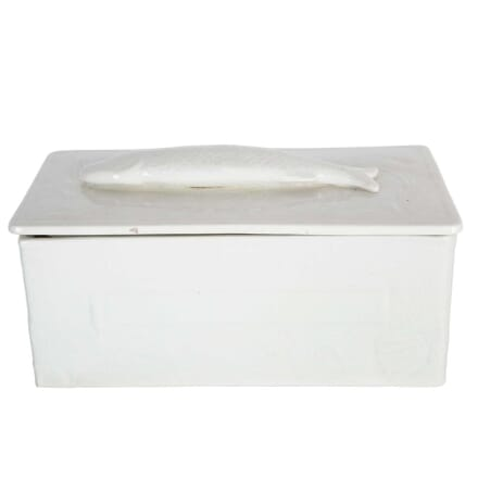 White Porcelain Fish Pate Tureen Lidded With Fish On Lid DA4458657