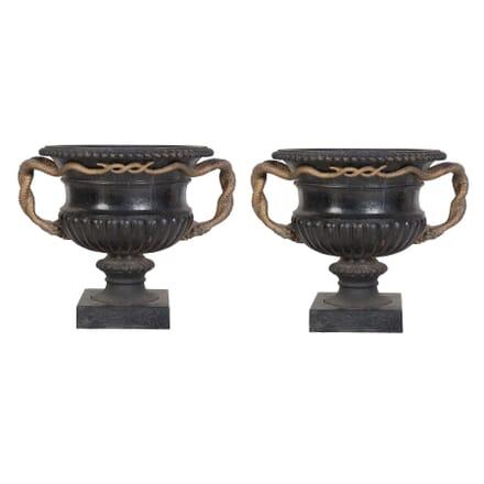 Pair of Cast Iron Urns DA239444