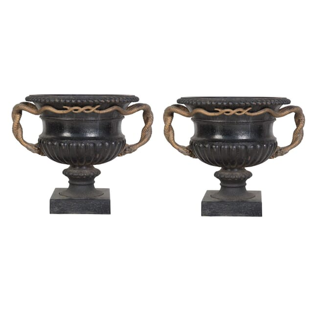 Pair of Cast Iron Urns DA239444