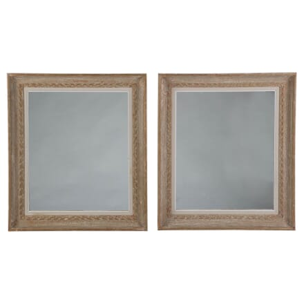 Early 20th Century Pair of French Wooden Mirrors MI358698