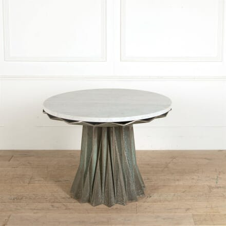 Marble Topped Sculptural Steel Centre Table TC287357