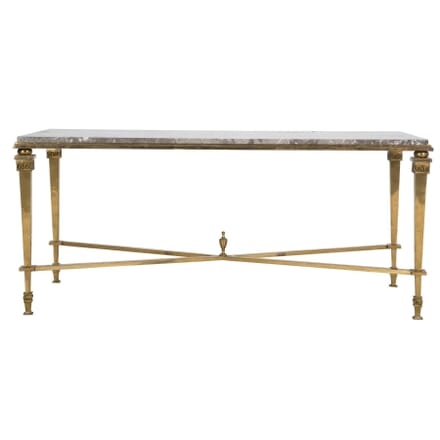 BRONZE AND MARBLE COFFEE TABLE CT2810625