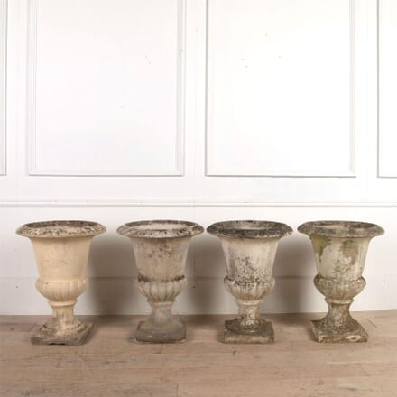 Four Early 20th Century Composition Stone Urns GA0161294