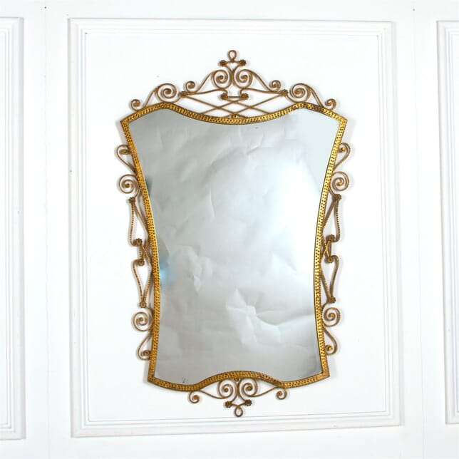 Itallian Brass Mirror by Pier Luigi Colli MI527265