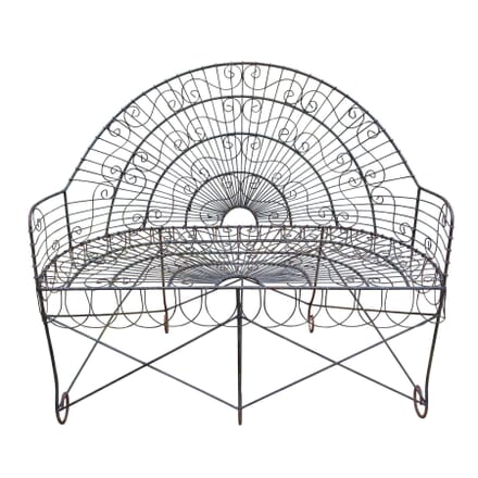 20th Century Wirework Garden Bench GA4258585