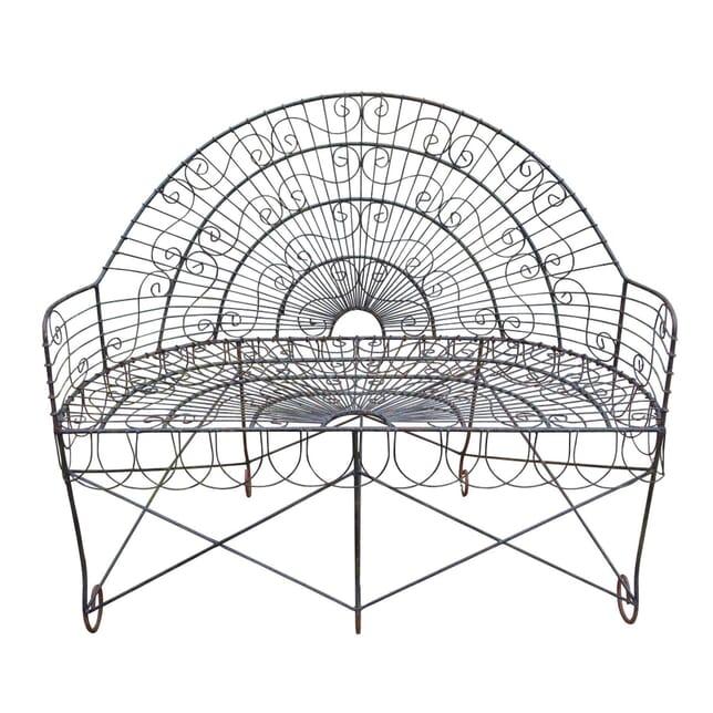 20th Century Wirework Garden Bench GA4258585