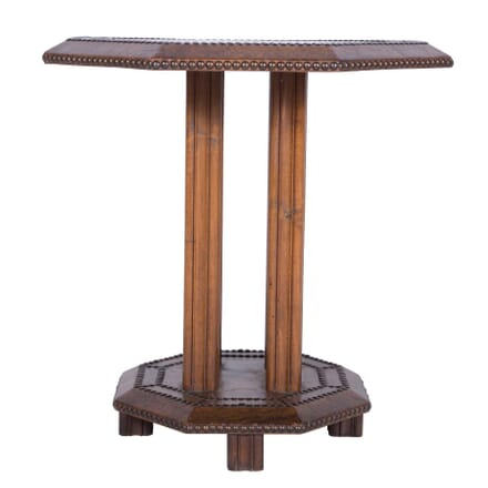 French Art Deco Leather Side Table CO7359911