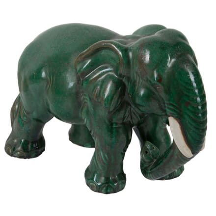 Terracotta Green Elephant DA5260684