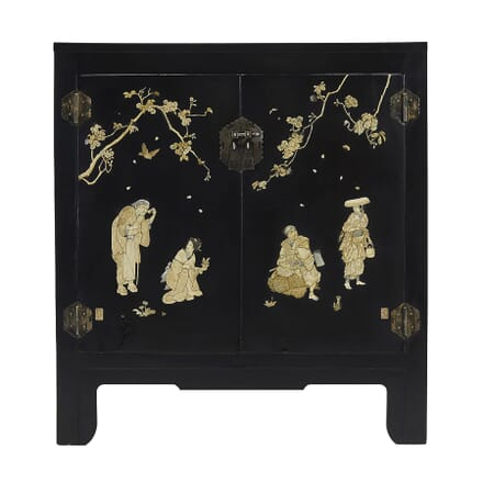 Japanese Ivory and Mother of Pearl Cabinet BU067411