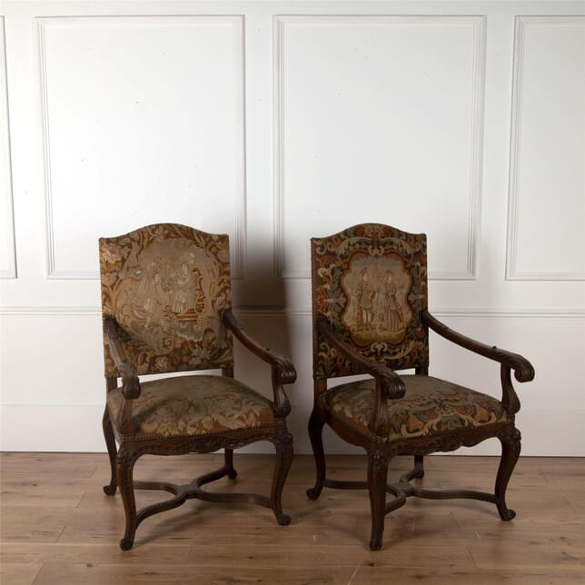 Pair of French Oak Chairs CH3562450