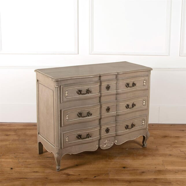 Mid 20th Century French Commode with Original Grey Paint CC287359