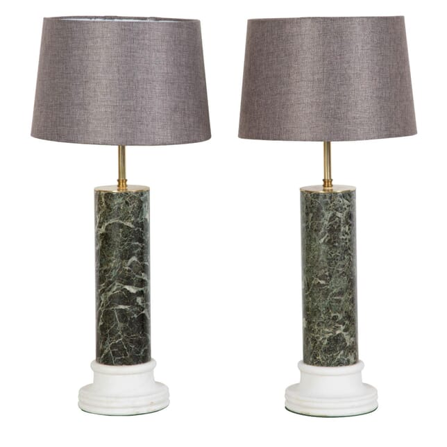 Pair of 19th Century Marble Lamps LT037348