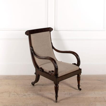 French Mahogany Library Chair CH4861485