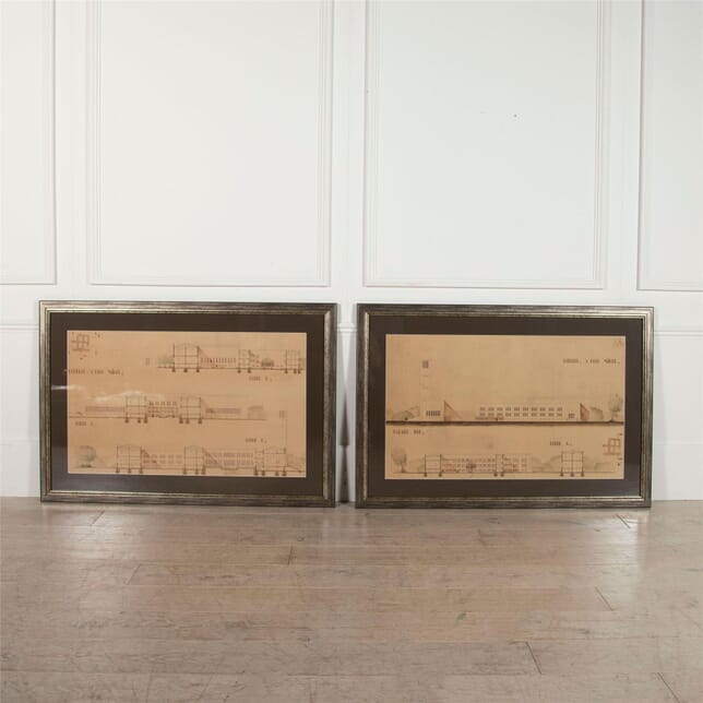 Large Pair of Architectural Drawings WD3062390
