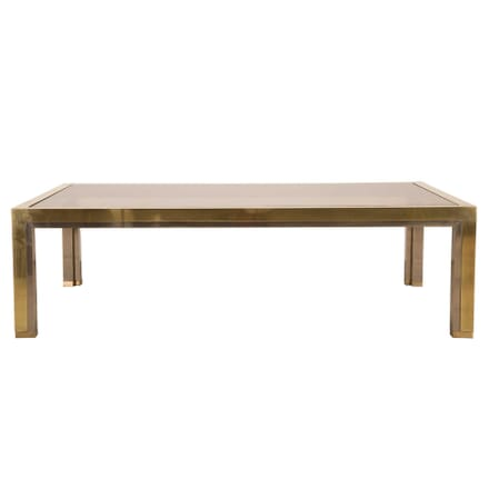 Brass and Chrome Coffee Table in the Manner of Romeo Rega CT3059526