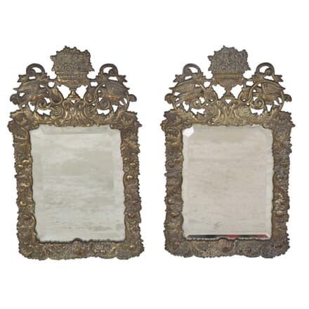 Pair of 19th Century Brass Mirrors MI2853527