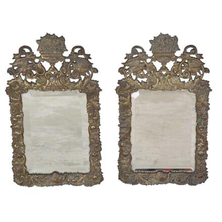 Pair of 19th Century Brass Mirrors MI2853527