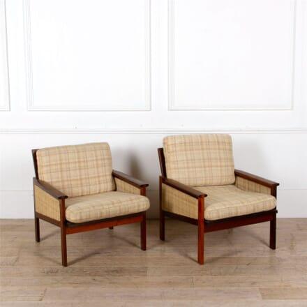 Pair of Mid Century Illum Wikkelso Armchairs CH287290