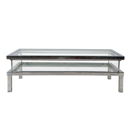 Chrome Sliding Top Coffee Table CT455291