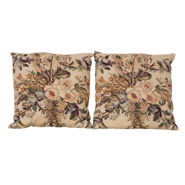 Pair of Flower Basket Cushions RT1560395