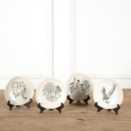 Set of Four Chicken Plates by Guy Krogh DA287368