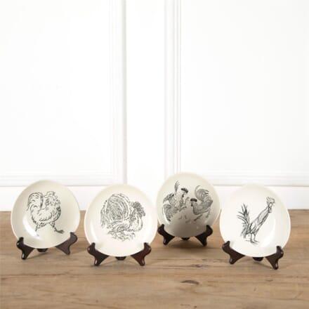 Set of Four Chicken Plates by Guy Krogh DA287368