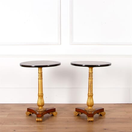Pair of Early 19th Century Amboyna Ebony & Parcel Gilt Side Tables TC1062104