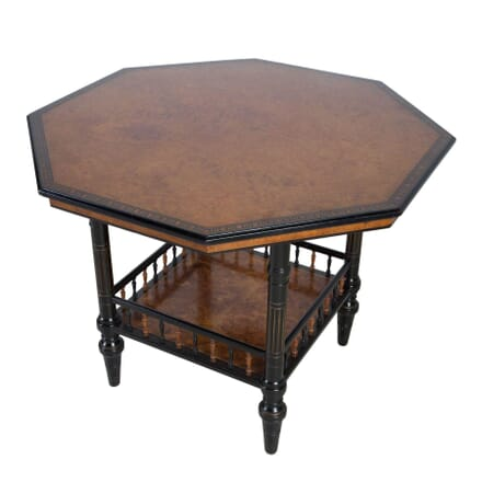 Aesthetic Movement Amboyna Ebonised Centre Table TC0512758