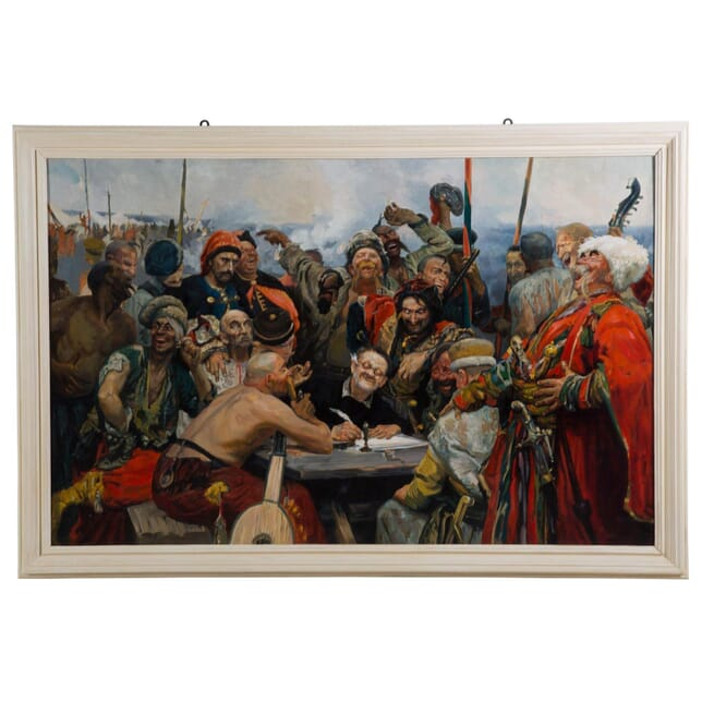 Oil on Canvas Painting - Reply of the Zaporozhian Cossacks by Ilya Repin WD4010753