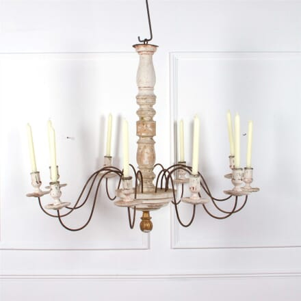 Distressed Giltwood and Gesso Chandelier LC0861963