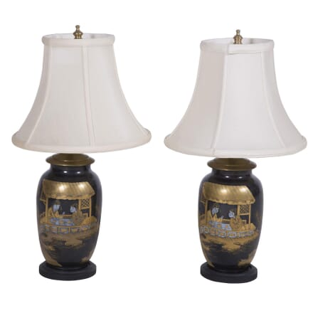 Pair of Metal Japanese Lamps LT7260207