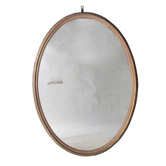 19th Century Large Oval Mirror MI2355152