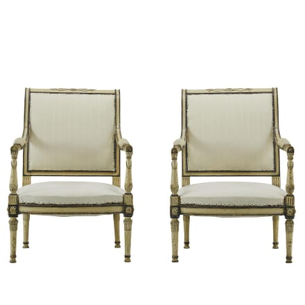 Pair of Early 19th Century French Painted Armchairs CH067408