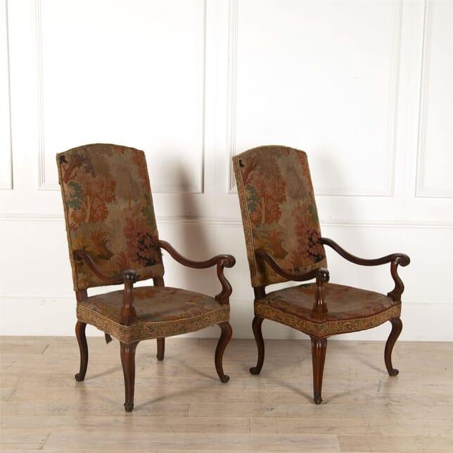 Pair of Italian 18th Century Mahogany Chairs CH417208