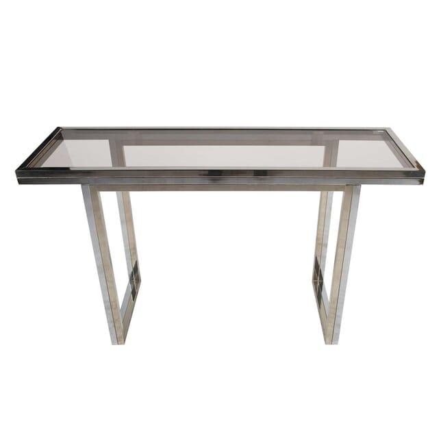 Bi-Coloured Metal Console Table CO0112364