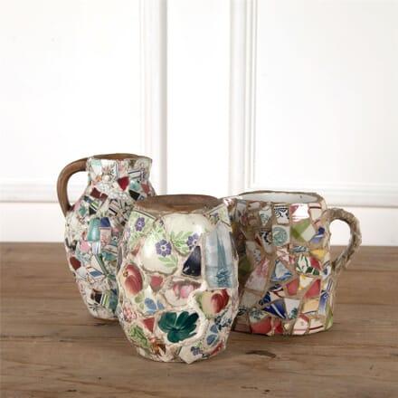 Set of Three Pique Assiette Jugs And Vases DA287369