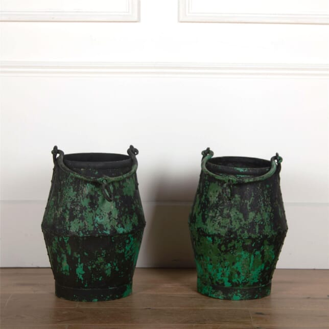 Pair of Green Well Buckets GA5561762