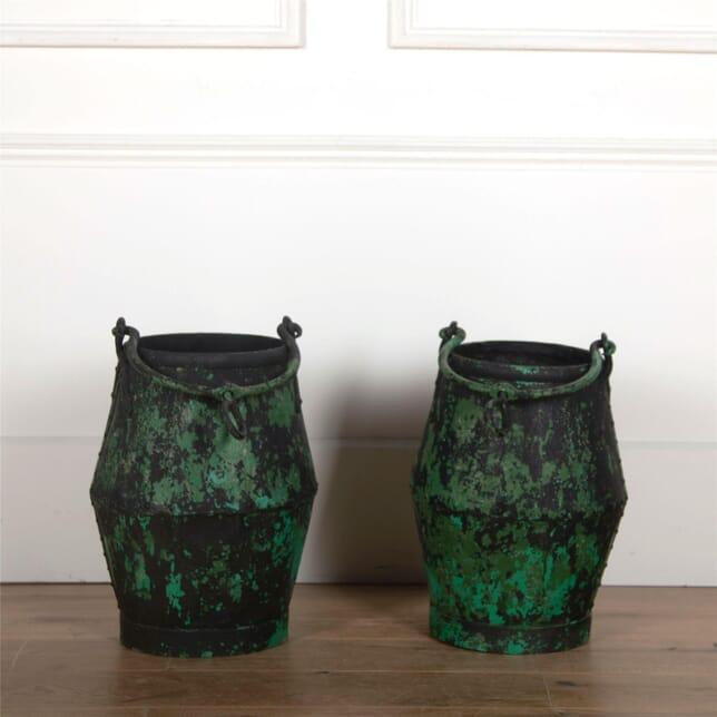 Pair of Green Well Buckets GA5561762